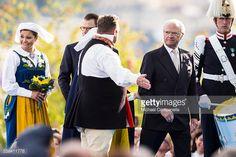 Carl XVI Gustaf and Princess Victoria of Sweden arrive at a ceremony celebrating Sweden's national day at Skansen on June 6, 2015 in Stockholm, Sweden.