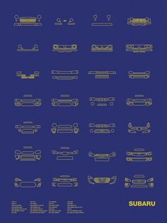 Auto Icon Screen Print Series: Subaru – NOMO Design #koenigsegg