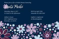 Flower Punch Bridal Shower Invitations
