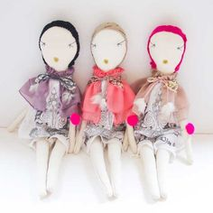 JESS BROWN RAG DOLL - TEA DYED MUSLiN WiTH PALAiS ROYAL ONE PiECE + SH - ATELiER ATSUYO ET AKiKO