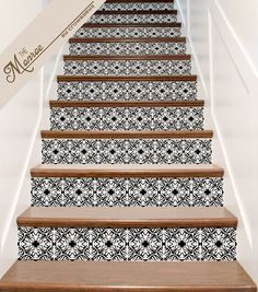 vinyl stair decals for staircase riser decor decorative stair riser decal stair stickers. Black Bedroom Furniture Sets. Home Design Ideas