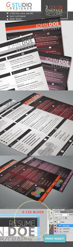 One Page Modern Resume Modern resume, Modern and Cv design - one page resume
