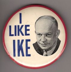 Dwight D. Eisenhower button, 1952