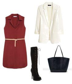 K:  Sukienka Mango  Marynarka H&M  Torba Zara  Buty Aldo