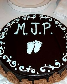 """See the """"Initials Cake"""" in our Your Best Baby Shower Ideas gallery"""