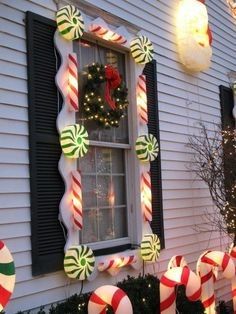 lighted christmas window decorations outdoor christmas yard decorations peppermint christmas decorations christmas outdoor