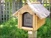 Tiki Hut Mailbox