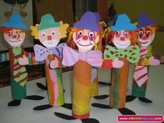 toilet paper roll clown crafts | Crafts and Worksheets for Preschool,Toddler and Kindergarten