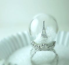 Pretty Parisian Perfection_    Be still my heart...this ring is the prettiest thing I have ever seen!! Keep a little Paris romance with you wherever you go when you wear the Winter in Paris Glass Globe Ring created by Etsy seller Divine Sweetness. This piece of Parisian perfection can be yours for $47.98. Siiiigh....this pretty will be mine.