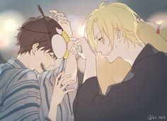 anime, yaoi, and friend ship image Fanarts Anime, Anime Characters, Manga Anime, Anime Art, Eren E Levi, Banana Art, Natsume Yuujinchou, Shounen Ai, Fish Art
