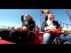 Paloma en la cara Ferrari Land - Pigeon hits a guy face Roller Coaster
