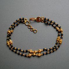 Solid Yellow Gold Mangalsutra Bracelet, Gold Chain with Black Beads, Layered Gold Bracelet, Indian Dainty Gold Bracelet Gold Bracelet Indian, 18k Gold Bracelet, Bridal Bracelet, Silver Bracelets, Beaded Bracelets, Diamond Bracelets, Bangles, Royal Jewelry, Beaded Jewelry
