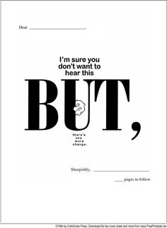 70 best fax covers images on pinterest organizers cover letters use humor when letting someone know via this printable fax cover sheet that one altavistaventures Images