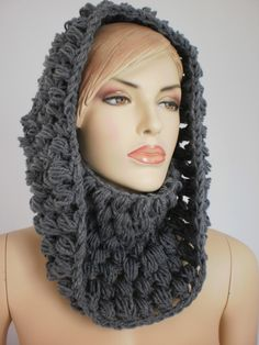 Crocheted Cowl Scarf Neck Warmer
