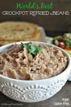 Crockpot Refried Beans #glutenfree #vegan