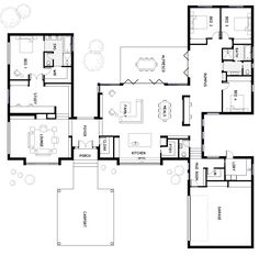 It's Floor Plan Friday today and I have this designer and spacious home to share with you. by judy Dream House Plans, Modern House Plans, Small House Plans, House Floor Plans, My Dream Home, Bedroom House Plans, The Plan, How To Plan, Home Design Floor Plans