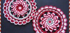 Peppermint Pinwheel Doily by Elizabeth Ann White