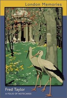 Notecard folio featuring designs by Fred Taylor (1875–1963) from the London Transport Museum, one of the finest poster archives in the world.
