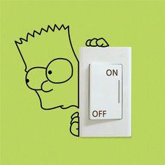 Bart Light Switch Stickers