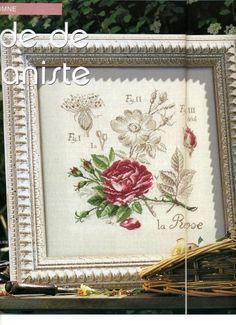 Les Brodeuses Parisiennes Veronique Enginger DFEA 51 & DFEA 28HS La Rose