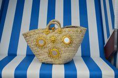 "Sicily Bag ""Sofia"". Sicilian straw bag / coffa. Named after glamorous Italian icon Sofia Loren."