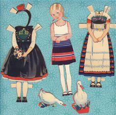 "Rare Antique Paper Doll & Clothes - ""Rachel Taft Dixon"" - 1930's. $20,00, via Etsy."