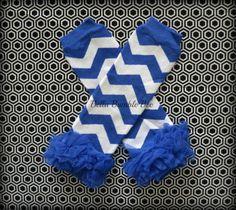 Royal Blue Chevron Leg Warmers Baby Outfit Leggings Pants with Tulle Ruffles, Baby Girl Chiffon Pants, Aqua Leggings, Baby Pants by BellaBumbleBee on Etsy https://www.etsy.com/listing/182789484/royal-blue-chevron-leg-warmers-baby