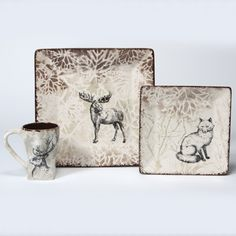 Loving the woodland animals trend. Elegant or whimsical - you choose by the colors you use!