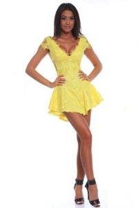 Rochii de ocazie ieftine galbene Rochie din dantela galbena mini Women's Fashion, Dresses, Vestidos, Fashion Women, Womens Fashion, Dress, Woman Fashion, Gown