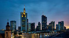 #architecture #city #cityscape #commerce #culture #downtown #education #europe #frankfurt am main #germany #high #hub #illuminated #lights #modern #night #panorama #scene #scenic #skyline #skyscrapers #tourism #travel #