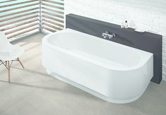 HOESCH back-to-wall bathtub Happy D. (with integrated apron)