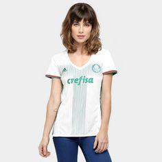 8e1edaa766 Camisa Palmeiras II 2016 s nº Torcedor Adidas Feminina - Compre Agora