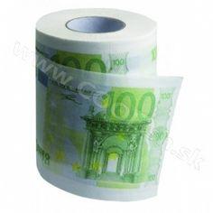 Originálny darček Toaletný papier 100 Euro  http://www.coolish.sk/sk/vtipne-darceky/toaletny-papier-100-euro