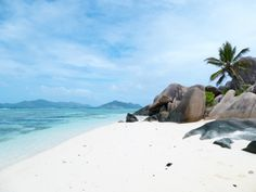 When you think of stunning white-sand beaches, places like the Maldives or Bora Bora might come to mind, but the Seychelles, East Africa, is where it's at. The Seychelles is made up of Seychelles Beach, Seychelles Islands, Best Swimming, Ocean Sounds, Beaches In The World, Most Beautiful Beaches, Turquoise Water, Island Beach, White Sand Beach