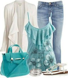 Fashion clothes for the summer! Love this top. Wonder where it can be purchased?