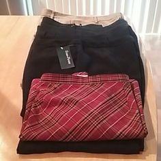 $10 Pre-Bundled Package 4 Items: 3 Pair of Size 16 dress slacks, 1 pair 16 short NWT,  1 plaid elastic waist skirt size 16 Other