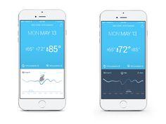 WEATHR App Concept Design - Screens
