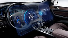 자동차의 각종 운행 정보를 운전자에게 알려주는 클러스터, 어떻게 진화하고 있을까요? Digital Dashboard, Dashboard Ui, Ui Ux, Gui Interface, Car Ui, Head Up Display, App Ui Design, Futuristic Cars, Smart Car