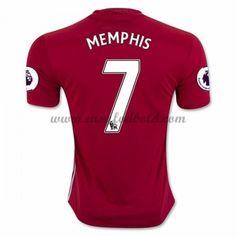 Fodboldtrøjer Premier League Manchester United 2016-17 Memphis 7 Hjemmetrøje