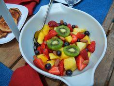 Fruit Salad with a Twist #Healthy #Brunch #Breakfast #Recipes #BlueDiamond #Almonds #Fruit