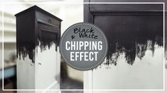 Black & White chipping - Miss Mustard Seed's milk paint