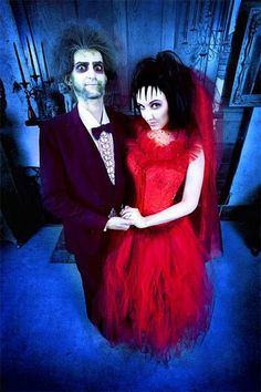 BEETLEJUICE & LYDIA: Here's an idea for the couples that are scary movie buffs. Go all out with elaborate outfits and some killer makeup. Here are 17 more ideas for couples who want to go all out or just throw something fun together last minute.