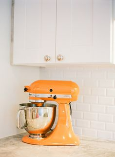 Kitchen-aid mixer. Now they come out with all kinds of cool colors. Wish they had a trade in program