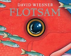 """Flotsam"" is an amazingly beautiful book from David Wiesner about sealife and adventure, without words, but told in gorgeous illustrations.  This book was a Caldecott Medal winner.  I'd give it to a 5-8 year old, if you want them to deduce the storyline, but to a 3yr old and up just for the images alone."