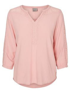 Pink lace detailed blouse from VERO MODA.