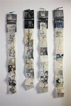 magpie of the mind Cas Holmes: Lace Lines - Lace Flowers unfolding forms… Cas Holmes, Concertina Book, Tea Bag Art, Handmade Books, Handmade Art, Book Making, Lace Making, Textile Artists, Fabric Art