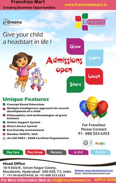 a school with difference is a pioneering institution that aims at providing a blend of concept and value based learning it's also top franchise business in india Preschool Decor, Behavioral Psychology, Home Tutors, Franchise Business, School Admissions, Advertising, Ads, Online Support, Learn English Words