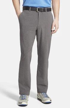 6aa3fb7c0b879 Men's Big & Tall Cutter & Buck Bainbridge Drytec Flat Front Straight Leg  Pants, Size 42 x 32 - Grey