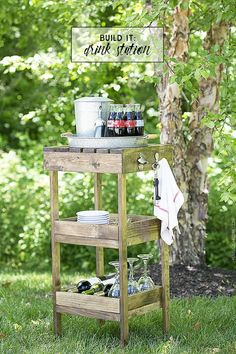 DIY Drink Station fo