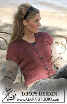 Free knitting patterns and crochet patterns by DROPS Design Vintage Crochet Patterns, Knitting Patterns Free, Free Knitting, Free Pattern, Drops Design, Crochet Woman, Knit Crochet, Crochet Design, Knit Cardigan Pattern